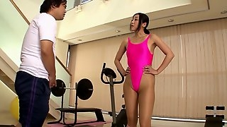 Submissive Japanese wife moans in pleasure while getting pounded severely by her hubby