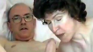 Grandpa s big cock  attractive mature swallows it