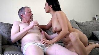 Brunette hoe Asdis receiving a hard dick of an older gentleman
