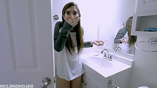 Juicy step sister Joseline Kelly hooks up with her perverted step brother