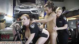 Filthy Female Cops Amuse With Black Guy