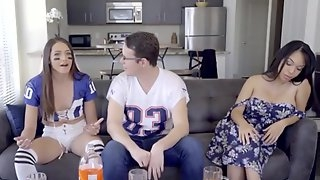 Nasty Dark Hair Step Sister Demands Creamp - emily mena