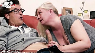 German milf with big boobs seduced and fuck