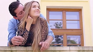 Alexis Crystal is having casual sex with her handsome gardener, and enjoying every second of it