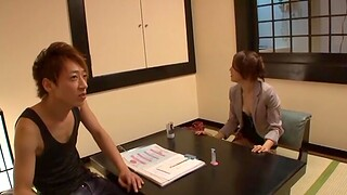 Small boobs Japanese girl enjoys getting fucked by a outsider