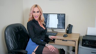 POV video of sexy Sarah Jessie giving head with the addition of getting fucked