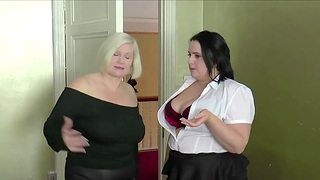 Closeup video of hardcore going to bed with chubby Sarah Jane and Lacey Starr