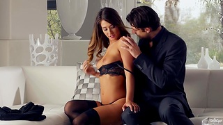 Miss Eva Lovia takes cumshots on beautiful ass after convention love with their way new admirer