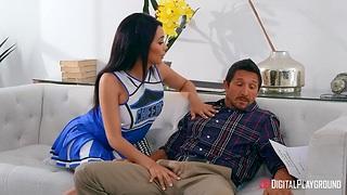 Flirty babe in arms Aaliyah Hadid seduces friend's daddy Tommy Gunn